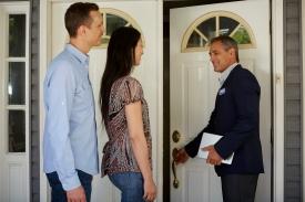 Agent Couple Front Door