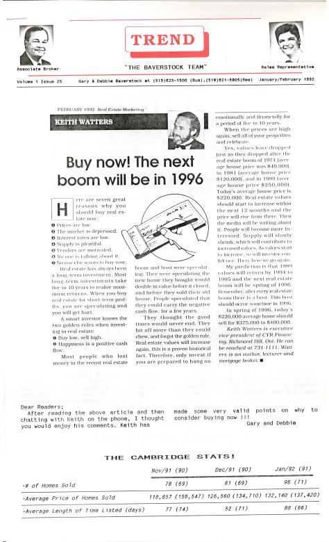 Trend - January 1992