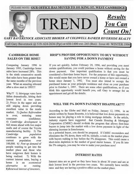 Trend - Spring 1996