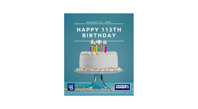 Happy Birthday Coldwell Banker – 113 Years Young!